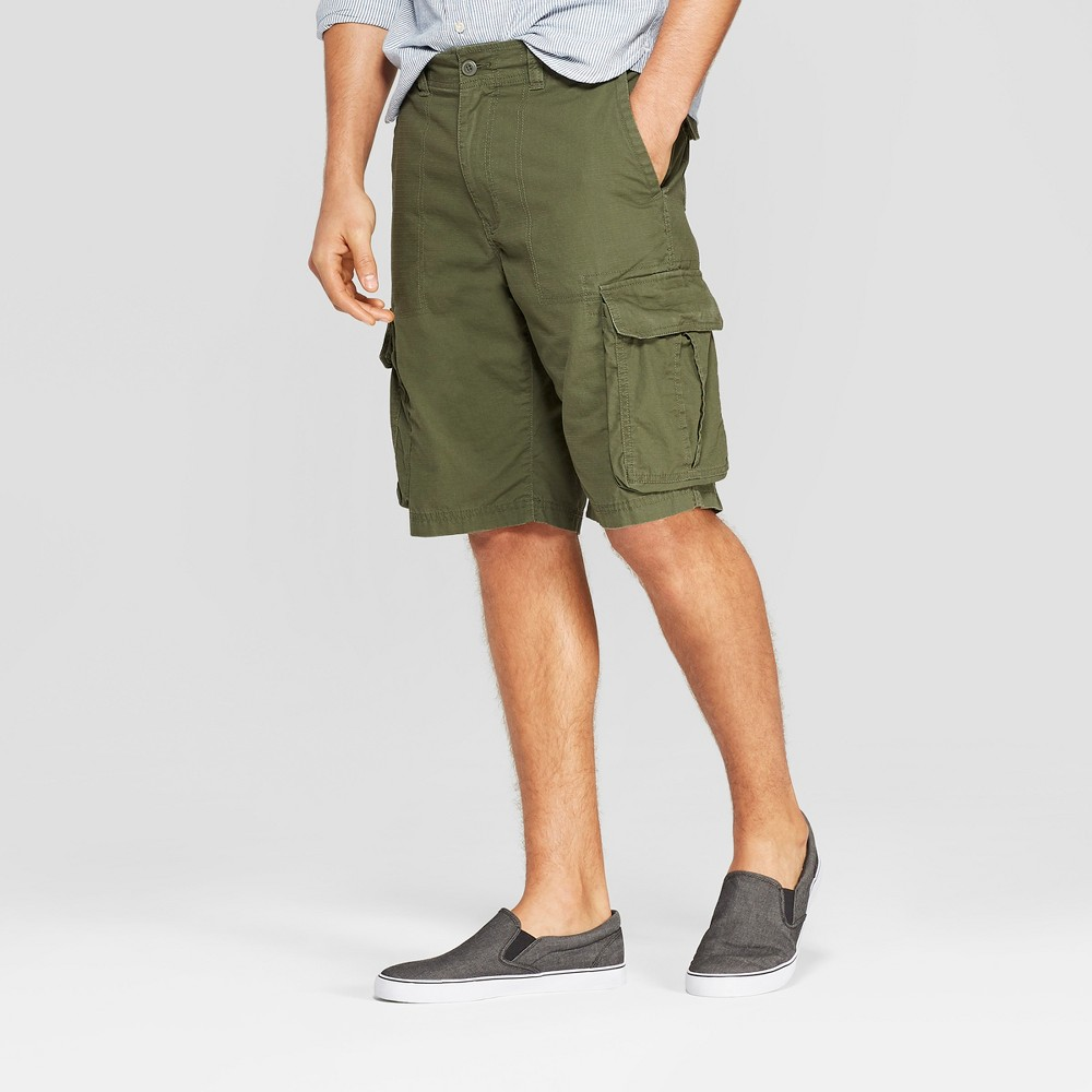 Men's 11 Cargo Shorts - Goodfellow & Co Green 28, Late Night Green