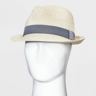 Men's Fedora Hat - Goodfellow & Co™ Natural M/L