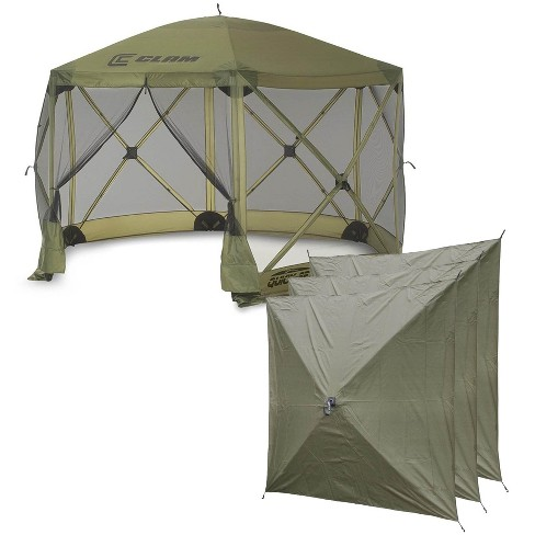 Clam Quick Set Escape Portable Camping Outdoor Canopy Screen with 3 Wind Panels - image 1 of 4