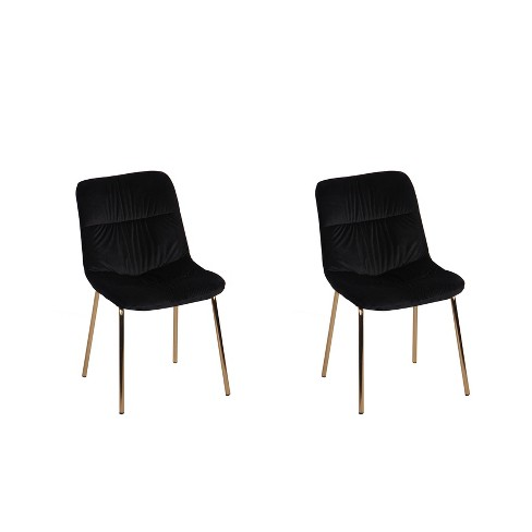 Set of 2 Wells Velvet Dining Chairs - ACEssentials - image 1 of 3