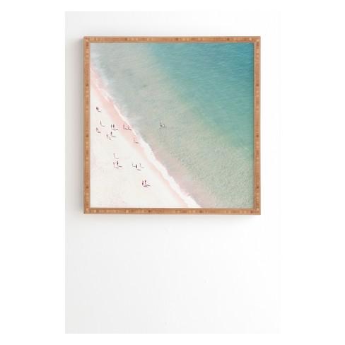 Ingrid Beddoes Summer beach love Framed Wall Art Buff Beige - society6 - image 1 of 2