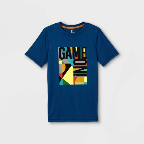 Boys' Short Sleeve 'Game On' Graphic T-Shirt - All in Motion™ Blue - image 1 of 2