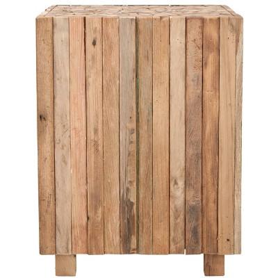 Richmond Square End Table Medium Oak - Safavieh