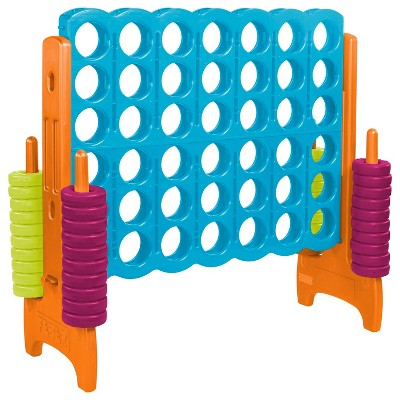 ECR4Kids Jumbo Four-To-Score Giant Game-Indoor/Outdoor 4-In-A-Row Connect - Vibrant Colors