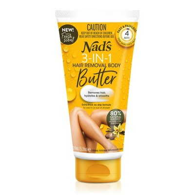 Nad's 3-in-1 Butter Body Hair Removal Cream - 5.1 fl oz