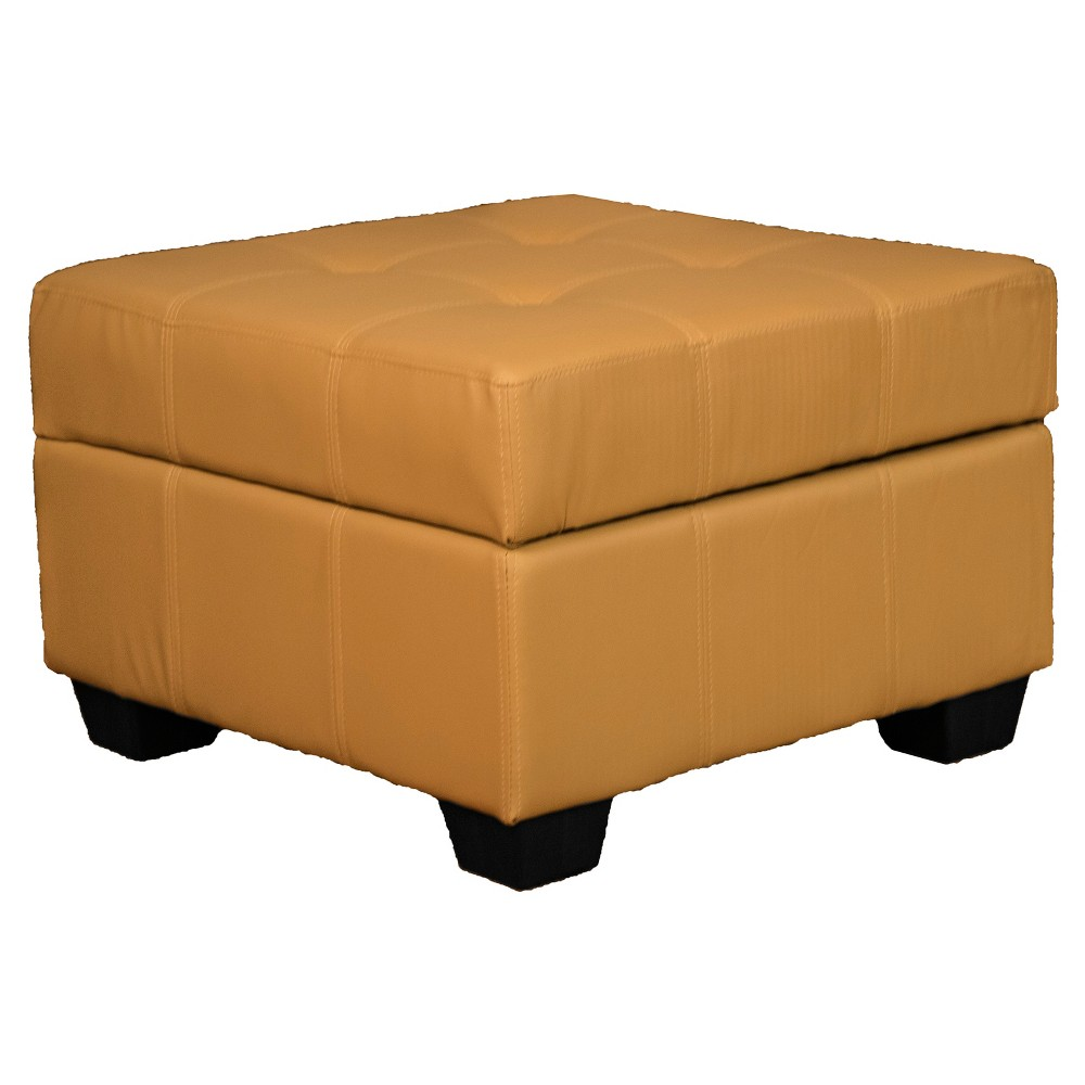 Image of Heirloom Tufted Padded Hinged Ottoman - Leather Look - Epic Furnishings