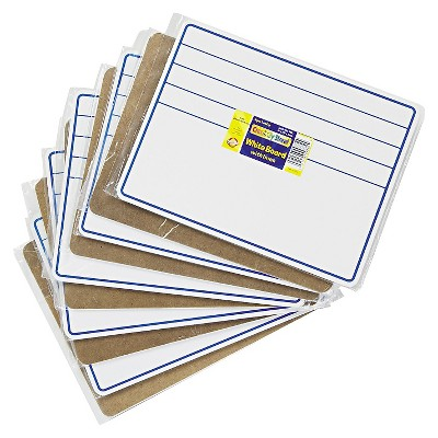Chenille Kraft Student Dry-Erase Boards, 12 x 9, Blue/White, 10/Set