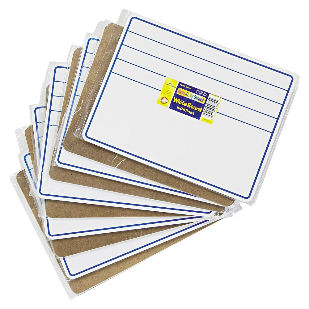 Image of Chenille Kraft Student Dry-Erase Boards, 12 x 9, Blue/White, 10/Set