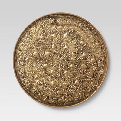 Embossed Brass Antique Medallion Wall Art Set Gold - Opalhouse™