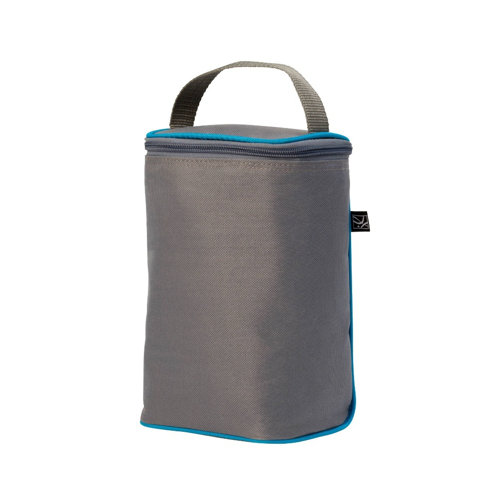 Image of J.L. Childress TwoCOOL Double Bottle Cooler Bag - Gray Teal