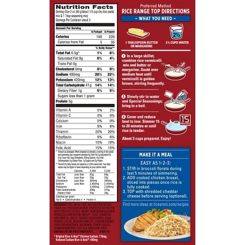 Rice A Roni Lower Sodium Chicken Rice 6 9oz Target