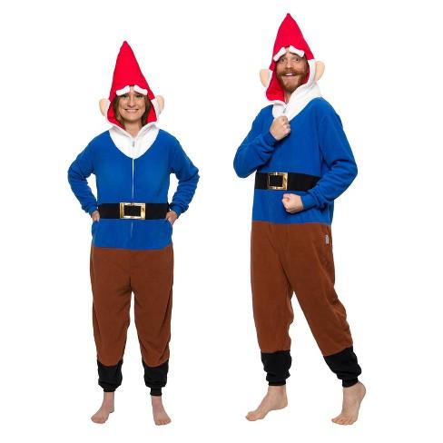 FUNZIEZ! - Garden Gnome Slim Fit Adult Unisex Novelty Union Suit - image 1 of 4