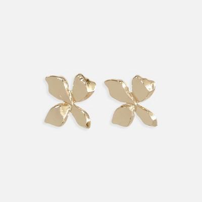Sanctuary Project Statement Flower Stud Earrings Gold