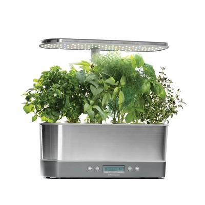 AeroGarden Harvest Elite Slim with Gourmet Herbs 6-Pod Seed Kit - Stainless Steel