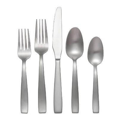 20pc Stainless Steel Everdine Everyday Silverware Set - Oneida
