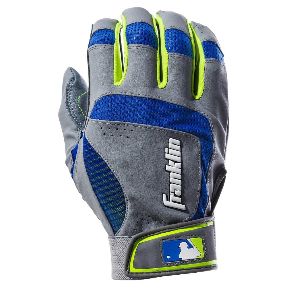 Franklin Sports Shok-Sorb Neo Batting Gloves Gray/Royal Adult X-Large