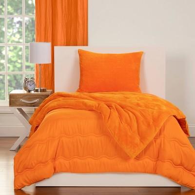 Crayola Playful Plush Orange Comforter Set (Twin) 2pc