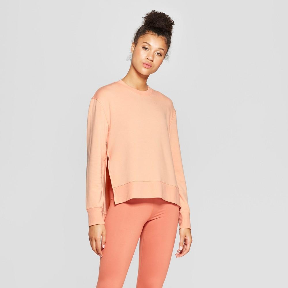 Women's Crew Neck Sweatshirt - JoyLab Dusty Pink M