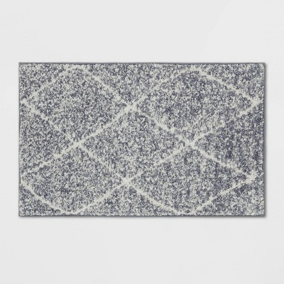 "2'6""X4' Criss Cross Easy Care Rug Gray/Ivory - Threshold™"