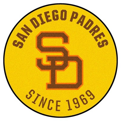"MLB San Diego Padres 27""x27"" 1969 Retro Collection Roundel Rug"