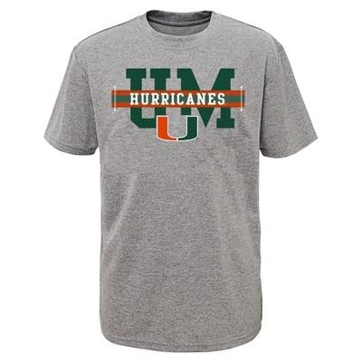 NCAA Miami Hurricanes Boys' Short Sleeve Performance T-Shirt