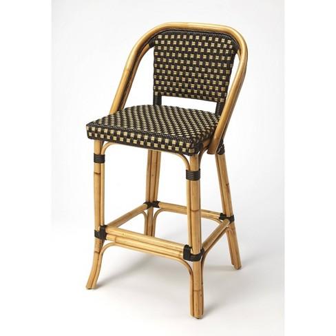 Swell Lila Rattan Bar Stool Brown Butler Specialty Inzonedesignstudio Interior Chair Design Inzonedesignstudiocom