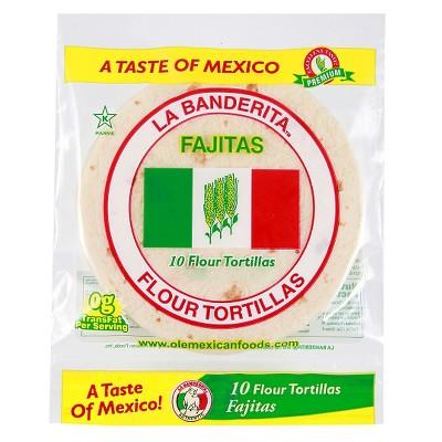La Banderita Fajita Size Flour Tortillas - 11.49oz/10ct