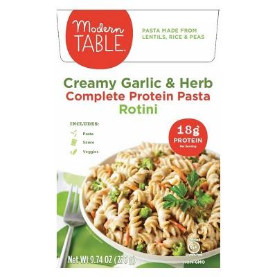 modern table creamy garlic herb lentil pasta meal kit 9 74oz rh target com modern table meals vegan modern table meals coupon