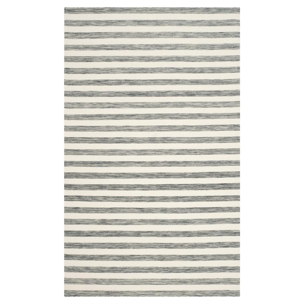 Roland Dhurrie Area Rug - Gray/Ivory (5' X 8') - Safavieh