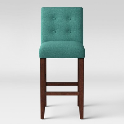29  Modern Parsons Barstool with Buttons Teal - Project 62™