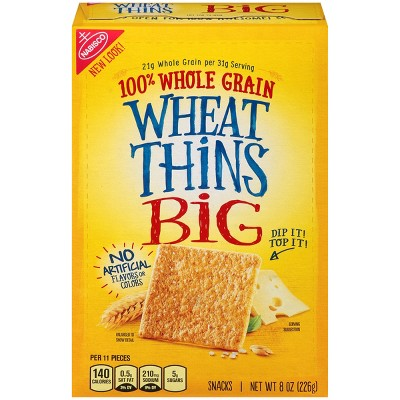 Wheat Thins Big Whole Grain Snacks - 8oz