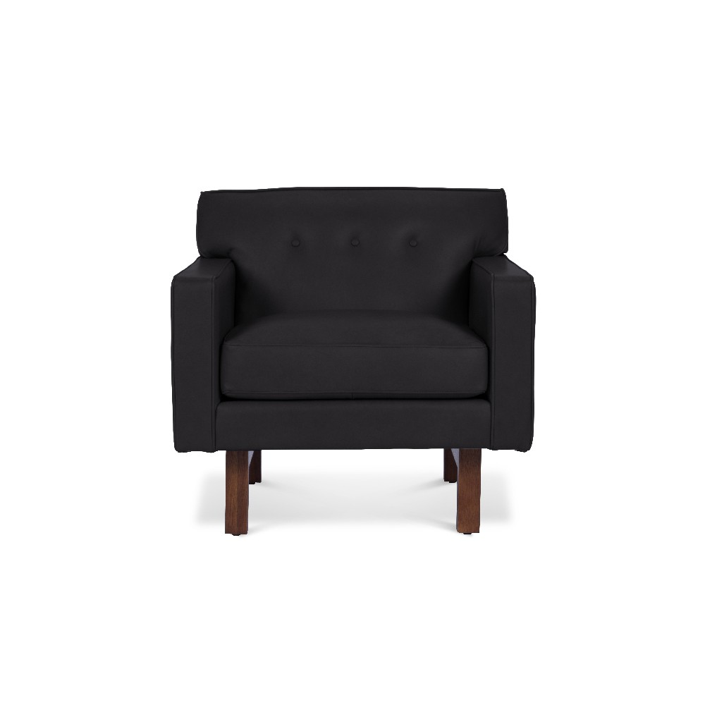 Rider Leather Chair Slate (Grey) - Firsthand Home