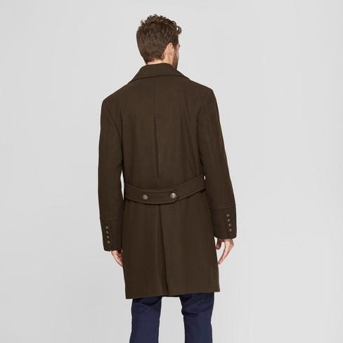 6f47fba22c7 Men s Wool Blend Trench Coat - Goodfellow   Co™ Dark Green   Target