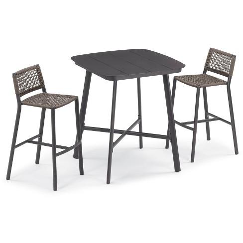 3pc Eiland Bar Table Set Carbon/Mocha - Oxford Garden - image 1 of 2