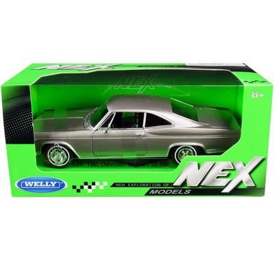 "1965 Chevrolet Impala SS 396 Gray Metallic ""NEX Models"" 1/24 Diecast Model Car by Welly"
