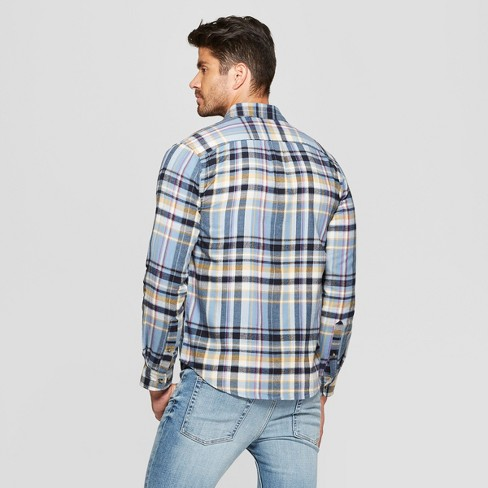 caa51acb46bd Men s Plaid Standard Fit Long Sleeve Pocket Flannel Button-Down Shirt -  Goodfellow   Co™   Target