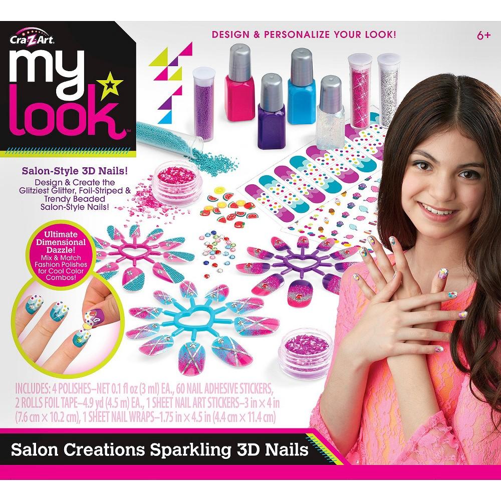 Cra Z Art My Look Salon Creations Sparkling 3d Nails Naturalsalons