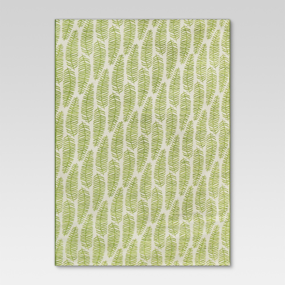 Ferns Green Outdoor Rug - 7'x10' - Threshold, Green White