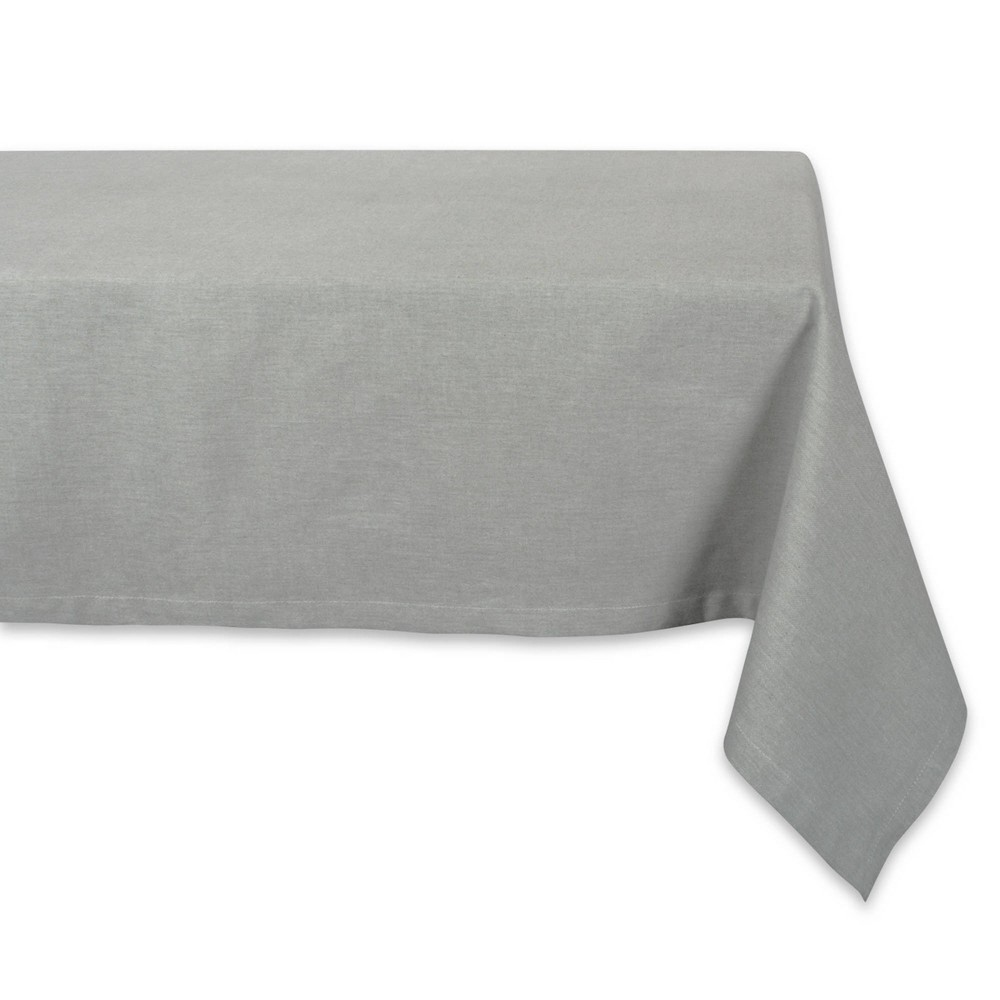 """Image of """"104"""""""" x 60"""""""" Cotton Chambray Tablecloth Green - Design Imports"""""""
