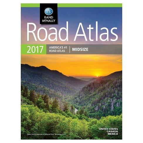 Rand McNally Midsize Road Atlas 2017 (Paperback) by Rand McNally - image 1 of 1