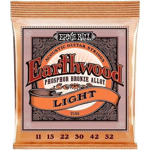 Ernie Ball 2148 Earthwood Phosphor Bronze Light Acoustic Guitar Strings - image 1 of 2