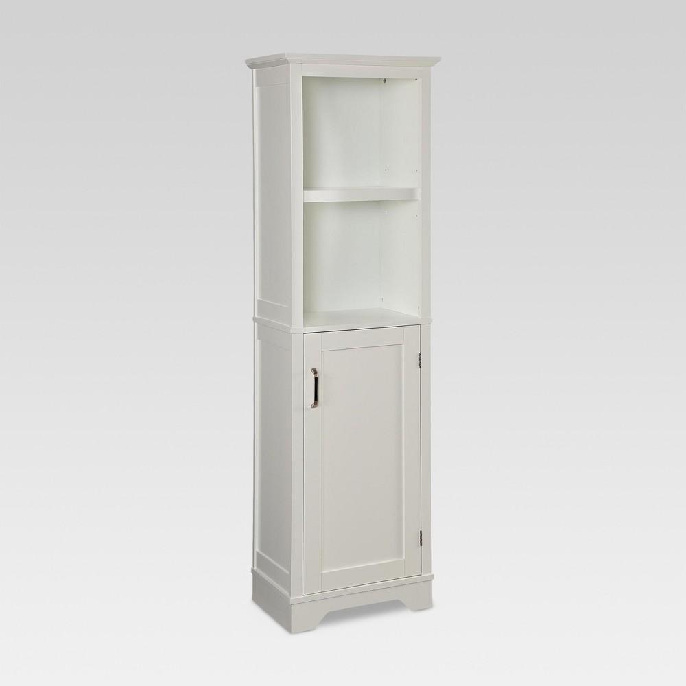 Wood Linen Tower White - Threshold