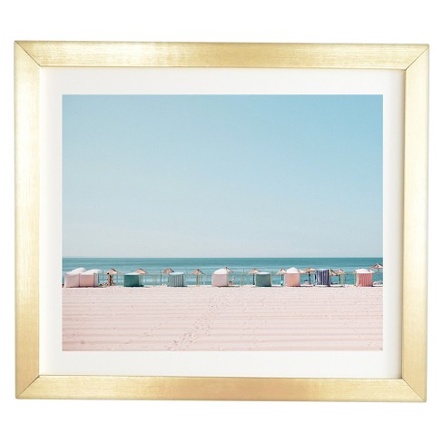 """Hello Twiggs Beach Huts Framed Wall Art 19"""" x 22.4"""" - Deny Designs - image 1 of 1"""