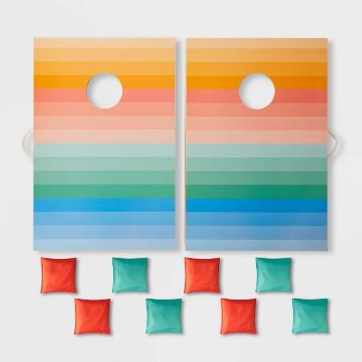 2' x 3' Wood Bean Bag Toss Ombre Stripes - Sun Squad™