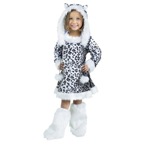 Girls' Snow Leopard Toddler Costume 3-4t - image 1 of 1