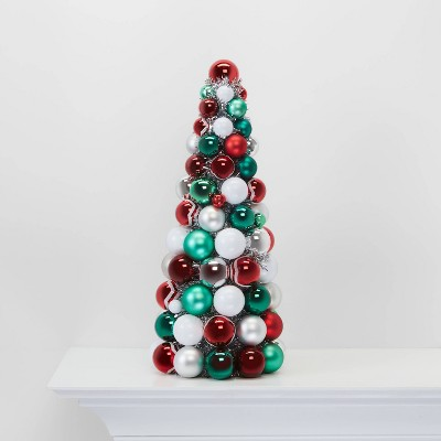 Shatterproof Christmas Tree Decorative Figurine Red Green And White   Wondershop™ by Shop This Collection