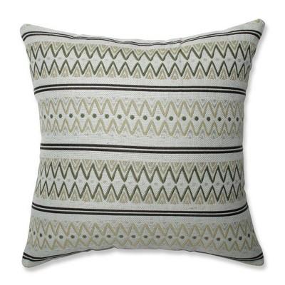 Zig Zag Avocado Throw Pillow Green - Pillow Perfect
