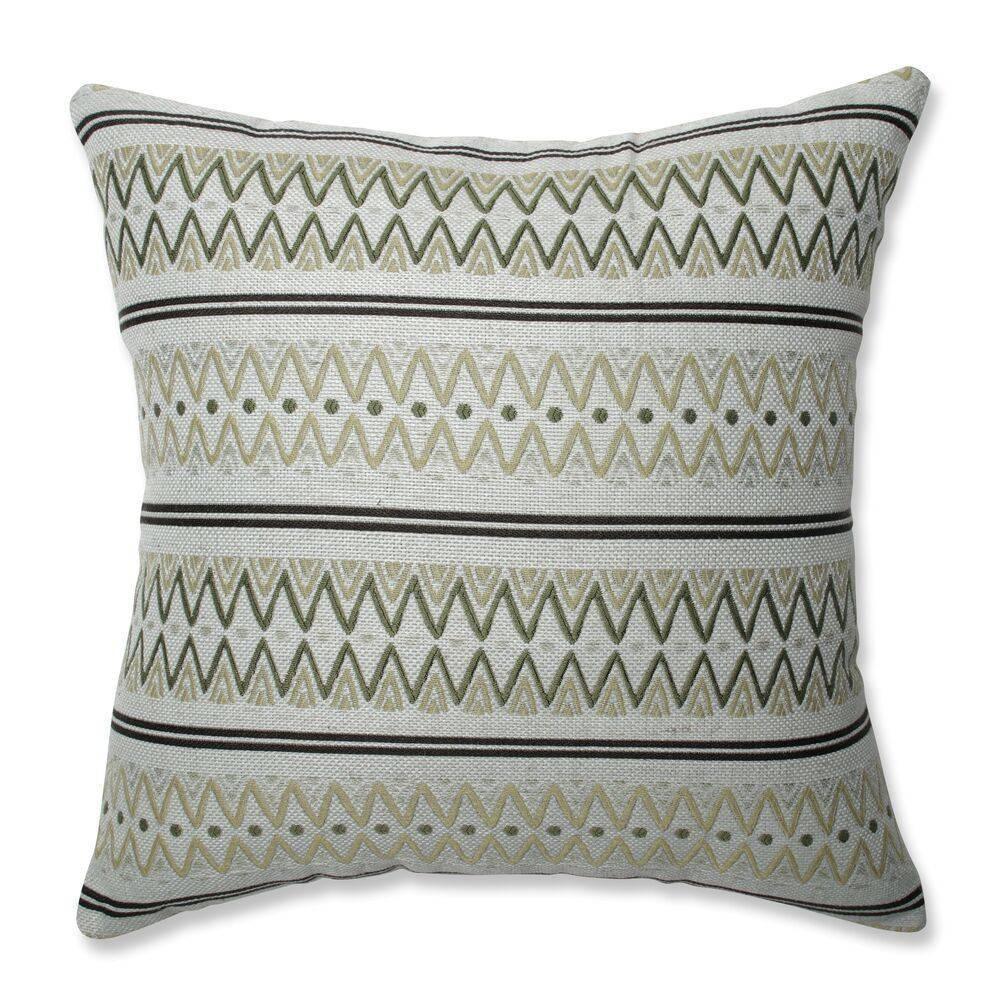 16 5 34 X16 5 34 Zig Zag Avocado Square Throw Pillow Green Pillow Perfect