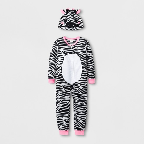1a84a2cc19 Toddler Girls  Zebra Blanket Sleeper - Cat   Jack™ Fresh White 3T ...