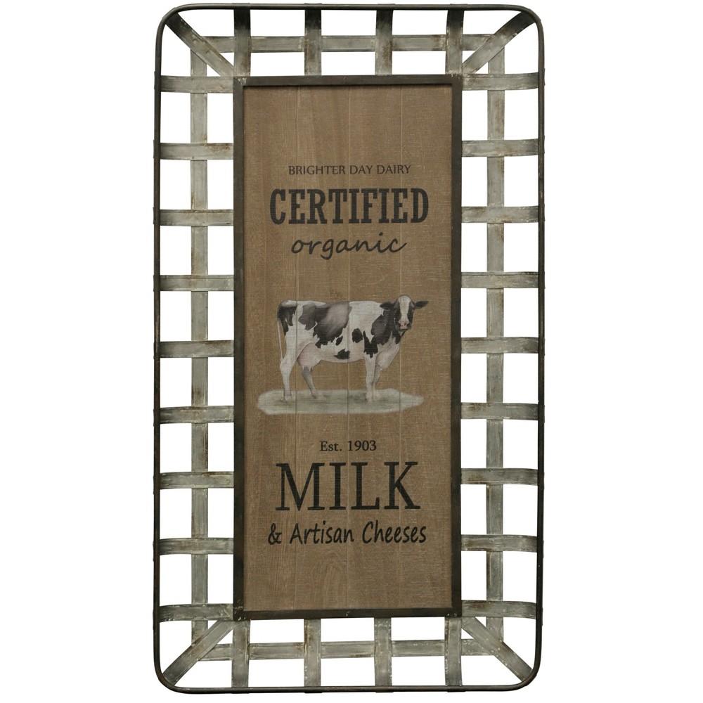 "Image of ""39.37"""" Certified Organic Milk & Artisan Cheese Decorative Wall Art - StyleCraft"""
